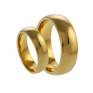 His & Hers Tungsten High Polish Ring Set