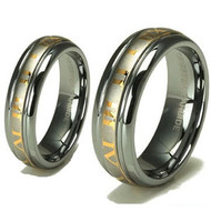 His & Hers Tungsten Ring's Set