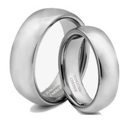 His & Hers Tungsten Polish Ring Set