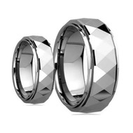 His & Hers Scratch Resistant Tungsten Ring Set