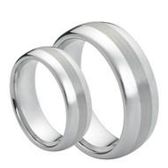 His & Hers ScratchResistant Tungsten  Ring's Set