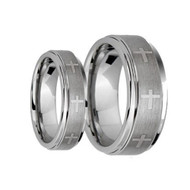 His & Hers Tungsten Ring Set Scratch Resistant