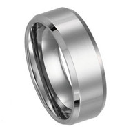 Beveled Tungsten Ring
