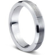 "TUNGSTEN RING  "" Matte & High polished"""