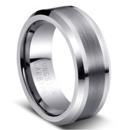 "TUNGSTEN RING ""MATTE and HIGH POLISHED"""