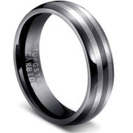 Tungsten Ring Black High Polished