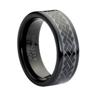 "Tungsten Ring "" Black High Polish"""