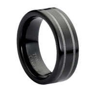 "Tungsten color Ring "" High Polished """