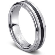 "Tungsten Carbide Ring "" High Polished """
