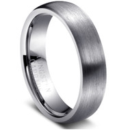 Tungsten Brushed Classic Ring
