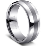 Tungsten Carbide Brushed Ring