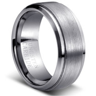 Tungsten Brushed Ring Solid Tungsten Carbide