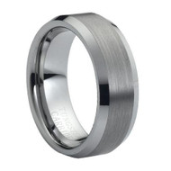Tungsten High Polished Brushed Ring
