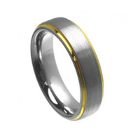 Tungsten Brushed Ring