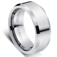 "Tungsten Ring "" High Polished ""comfort fit"