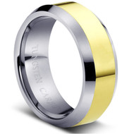 """Tungsten Ring Two Tone """"High polished """""""