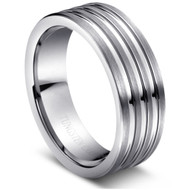 "Tungsten Ring "" High Polished "" classic wide comfort fit"