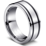 "Tungsten Ring "" High Polished "" simple and unique"