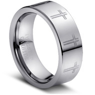 TUNGSTEN RINGS HIGH POLISH