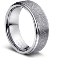 "Tungsten Ring ""Celtic Knott """