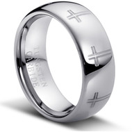 "Tungsten Carbide Ring ""High Polished"""