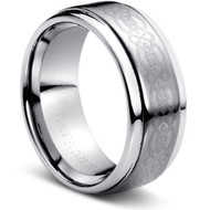 "TUNGSTEN RING  ""Laser Celtic Engraved"""