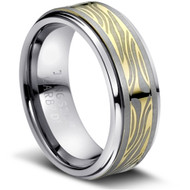 "Tungsten Ring  "" High Polish & Matt Finish """