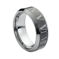 "Laser Engraved ""Tungsten Ring"""