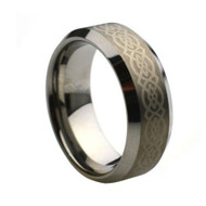 Laser Engraved Tungsten Ring