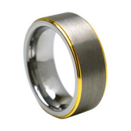 "Tungsten Carbide Ring "" Matte & High polish """