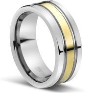"Tungsten Ring "" High polished ""  Comfort Fit"