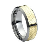 "Tungsten Ring Yellow "" High Polished """