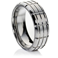 Grooved Tungsten Ring high grade cobalt-free Tungsten Carbide