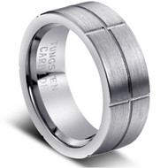 "Tungsten Ring "" Matte Finished"""