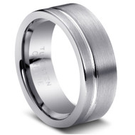 "Tungsten Ring "" Matte Finished"" wide Comfort Fit Tungsten"