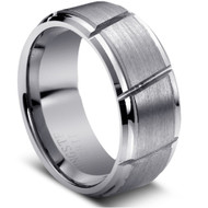 Tungsten Carbide Multiple Diagonal Grooved Tungsten Ring