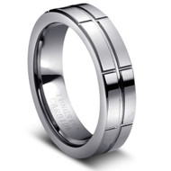 Tungsten Carbide High Polished Intersecting Grooved Design
