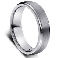 "Tungsten Ring "" Brushed """