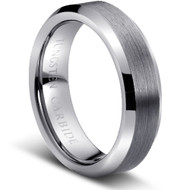 "Tungsten Ring "" Matte & Polished"""