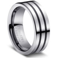 "Tungsten Ring ""High Polish"""