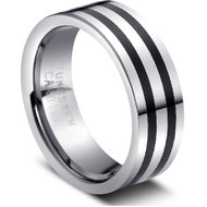 """Tungsten Ring Stylish """" High Polished """" crafted from polished tungsten metal"""