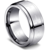 "Tungsten Ring Carbide Cross"" High Polished """