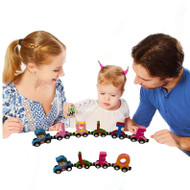 Build Your Personalized Wooden Name  Alphabet Car Train Magnetic Letters Railroad Educational