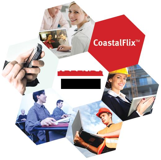 CoastalFlix<sup>℠</sup> Aprenda A qualquer hora. Em qualquer lugar.