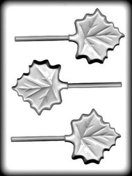 Sucker Molds, High Heat White Plastic Mold - Maple Leaf  3 cavity