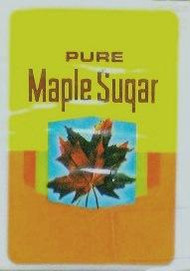 Pure Maple Sugar Labels - Yellow & Gold - 100/pak