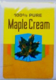 Pure Maple Cream Labels - Yellow & Gold - 100/pak