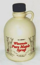 Bacon Brand Plastic Jug - 8 oz (38mm cover) - Wisconsin Tree design - 100 /case