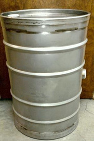 Stainless Steel 30 Gallon Drum
