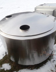 Storage Tank,  *** SOLD *** 275 gallon  Round USED TANK, Stainless Steel